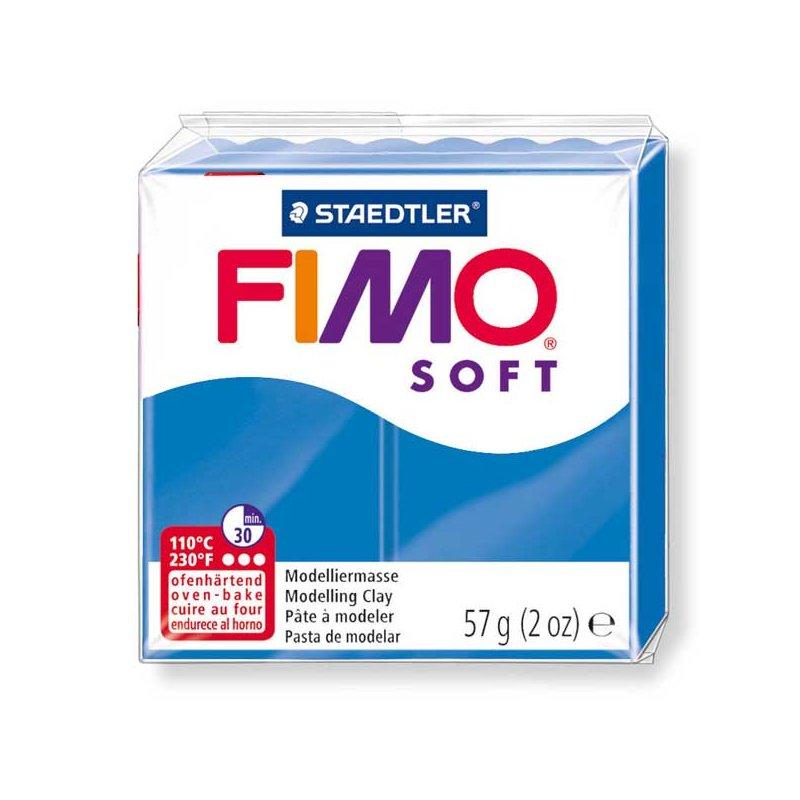Полимерная глина Fimo Soft, 57 г, №37, ярко-синий