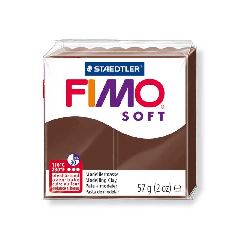 Полімерна глина Fimo Soft, 57 г, №75, шоколадна