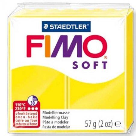 Полимерная глина Fimo Soft, 57 г, №10, лимон