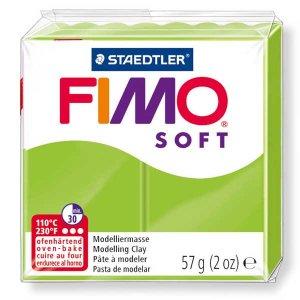 Полимерная глина Fimo Soft, 56г, №50, салатовый