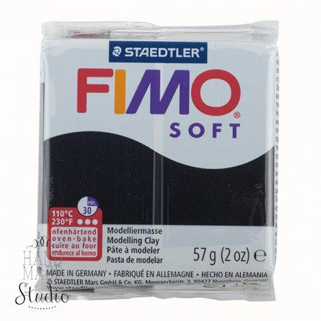 Полимерная глина Fimo Soft, 57 г, №9, черный