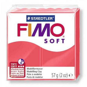 Полимерная глина Fimo Soft, 57 г, №40, фламинго