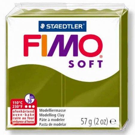 Полимерная глина Fimo Soft, 57 г, №57, оливковый