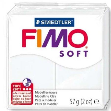 Полимерная глина Fimo Soft, 57 г, №0, белый
