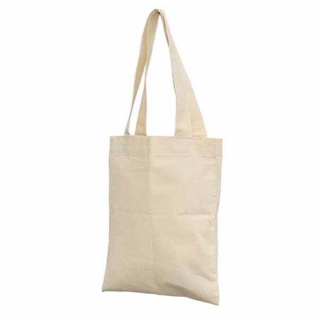 Заготовка для декорирования эко сумка с дном (двунитка), цвет беж, 35х40 см
