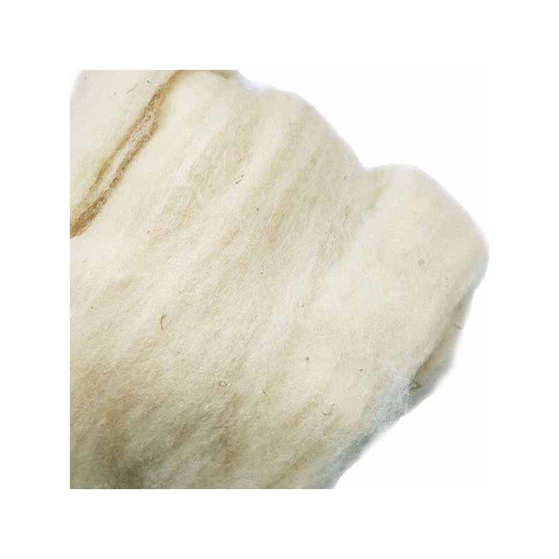 Шерсть Сливер для валяния кардочесанная ( неокрашенная ) 30-32 мк, 100г.