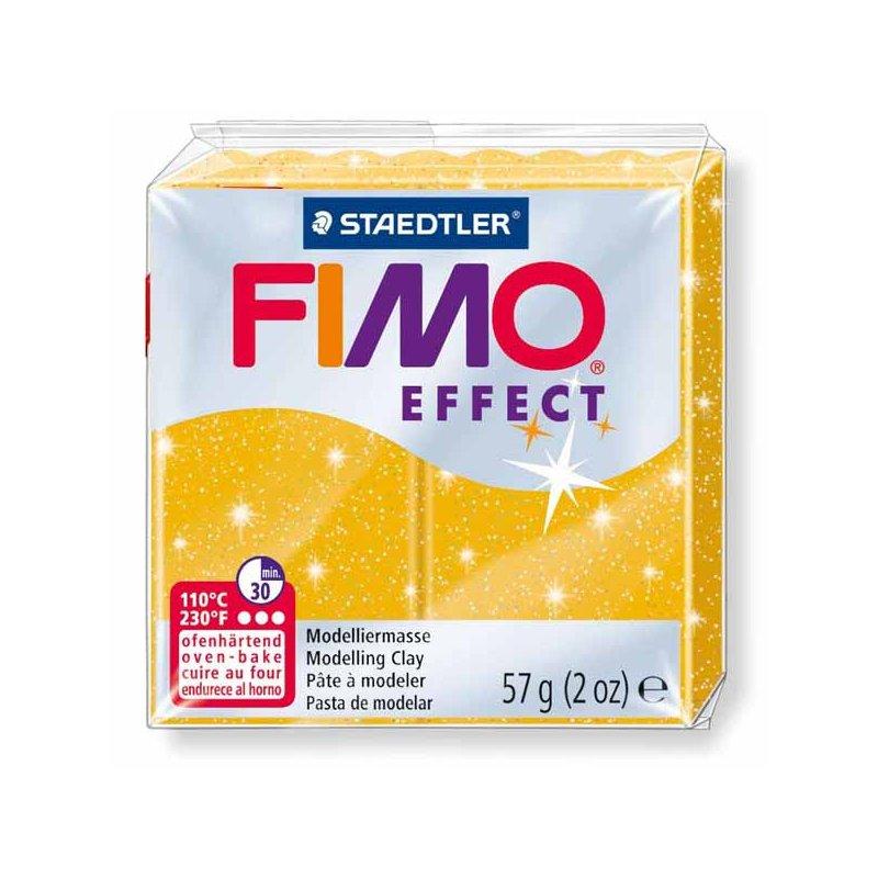 Полімерна глина Fimo Effect, №112, золотий з блискітками, 57 г