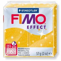 Полимерная глина Fimo Effect, №112, золотой с блестками, 57 г