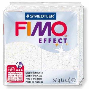 Полимерная глина Fimo Effect, №052, белый с блестками, 57 г