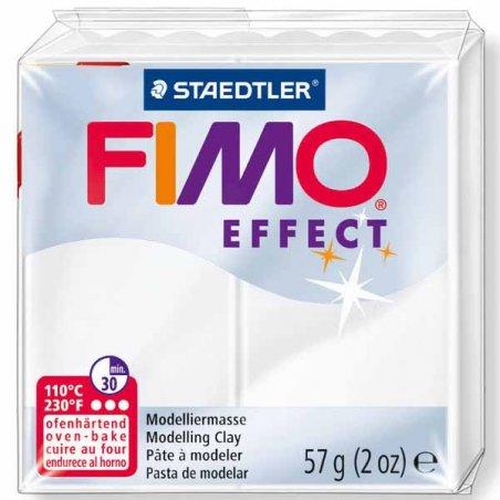 Полимерная глина Fimo Effect, №014, белый полупрозрачный, 57 г