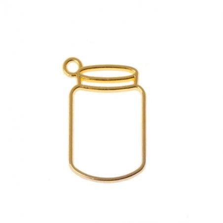 """Металлическая рамка (сеттинг) под заливку эпоксидной смолой  """"Баночка"""" (золото), 1 штук"""