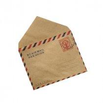 Крафт конверт с рисунком, 10х7,5 см