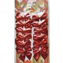 Бантики декоративные на планшетке, цвет красный, 12 штук