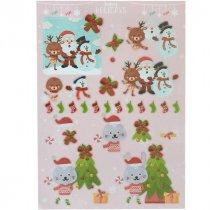 """Лист с высечками для изготовления 3D открытки """"Happy Holidays"""" №1, 21х29,7 см"""