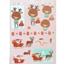 """Лист с высечками для изготовления 3D открытки """"Happy Holidays"""" №10, 21х29,7 см"""