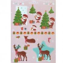 """Лист с высечками для изготовления 3D открытки """"Happy Holidays"""" №2, 21х29,7 см"""