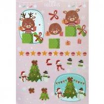 """Лист с высечками для изготовления 3D открытки """"Happy Holidays"""" №3, 21х29,7 см"""