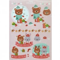 """Лист с высечками для изготовления 3D открытки """"Happy Holidays"""" №4, 21х29,7 см"""