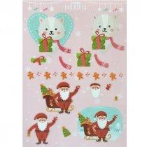 """Лист с высечками для изготовления 3D открытки """"Happy Holidays"""" №5, 21х29,7 см"""