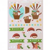 """Лист с высечками для изготовления 3D открытки """"Happy Holidays"""" №6, 21х29,7 см"""