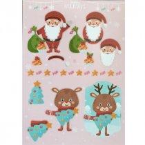 """Лист с высечками для изготовления 3D открытки """"Happy Holidays"""" №7, 21х29,7 см"""