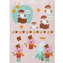 """Лист с высечками для изготовления 3D открытки """"Happy Holidays"""" №8, 21х29,7 см"""