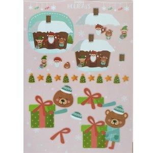 """Лист с высечками для изготовления 3D открытки """"Happy Holidays"""" №9, 21х29,7 см"""