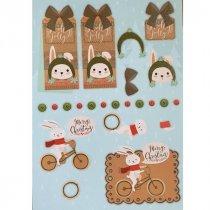 """Лист с высечками для изготовления 3D открытки """"Merry Christmas"""" №1, 21х29,7 см"""