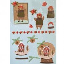 """Лист с высечками для изготовления 3D открытки """"Merry Christmas"""" №2, 21х29,7 см"""