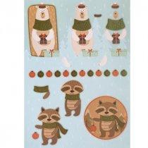 """Лист с высечками для изготовления 3D открытки """"Merry Christmas"""" №3, 21х29,7 см"""