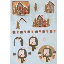 """Лист с высечками для изготовления 3D открытки """"Merry Christmas"""" №4, 21х29,7 см"""
