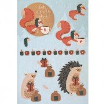 """Лист с высечками для изготовления 3D открытки """"Merry Christmas"""" №5, 21х29,7 см"""