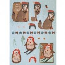 """Лист с высечками для изготовления 3D открытки """"Merry Christmas"""" №6, 21х29,7 см"""