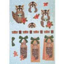 """Лист с высечками для изготовления 3D открытки """"Merry Christmas"""" №8, 21х29,7 см"""