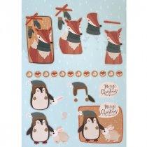 """Лист с высечками для изготовления 3D открытки """"Merry Christmas"""" №9, 21х29,7 см"""
