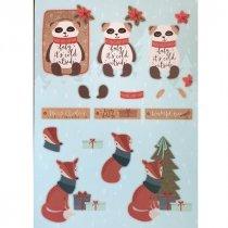 """Лист с высечками для изготовления 3D открытки """"Merry Christmas"""" №10, 21х29,7 см"""