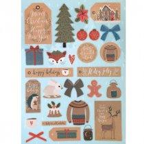 "Лист с высечками ""Merry Christmas"", 21х29,7 см"