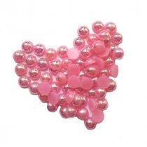 Пластиковые полубусины, розовый перламутр, 0,8 см, 10 г