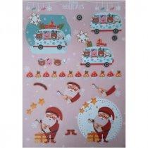 """Лист с высечками для изготовления 3D открытки """"Happy Holidays"""" №11, 21х29,7 см"""