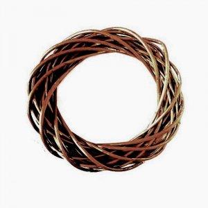 Венок из ротанга, цвет коричневый, диаметр 24,5 см