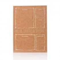 Блокнот Will be cool to be effective, А5 (15,5*21,5 см), 80 отрывных страниц