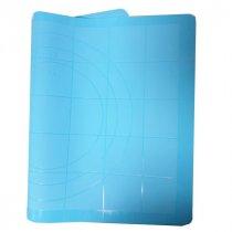 Коврик силиконовый с разметкой, 38х28 см, цвет в ассортименте