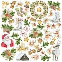 """Лист односторонней бумаги """"Awaiting Christmas"""", 30,5x30,5 см, 200 г/м2, 1 лист"""
