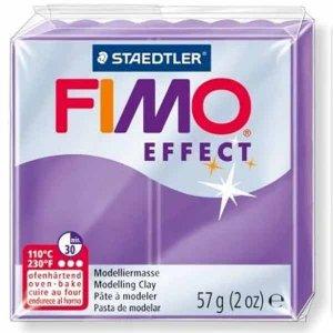 Полимерная глина Fimo Effect, 56г, №604, фиолетовый полупрозрачный