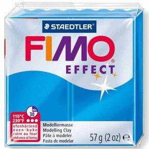 Полимерная глина Fimo Effect, №374, голубой полупрозрачный, 57 г
