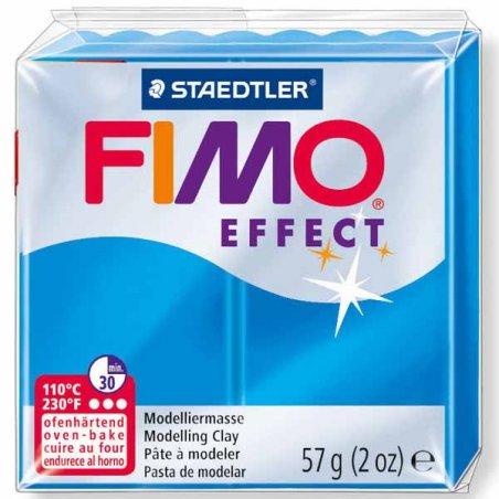 Полимерная глина Fimo Effect, №374, синяя полупрозрачная, 57 г