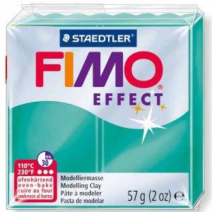 Полимерная глина Fimo Effect, №504, зеленый полупрозрачный, 57 г