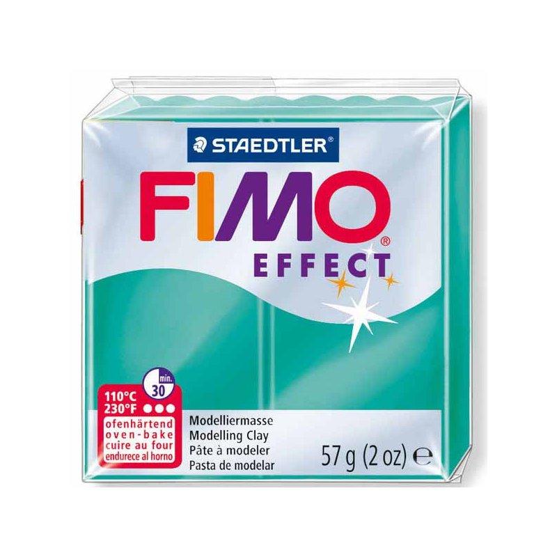 Полимерная глина Fimo Effect, 56г, №504, зеленый полупрозрачный