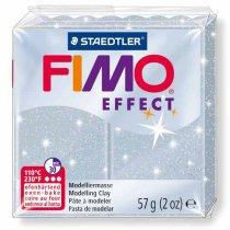 Полимерная глина Fimo Effect, №812, серебряный с блестками, 57 г