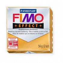 Полимерная глина Fimo Effect, №11, золотой металлик, 57 г